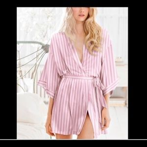 Victoria's Secret pink silky robe